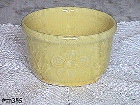SHAWNEE POTTERY -- FLOWER AND FERN GREASE JAR BOTTOM
