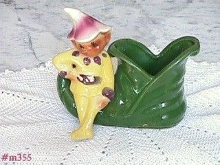 SHAWNEE POTTERY -- ELF ON SHOE PLANTER