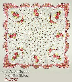 ROSES AND ROSEBUDS HANDKERCHIEF