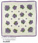 HANDKERCHIEF WITH LOTS OF VIOLET BOUQUETS