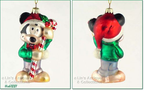 DISNEY MICKEY MOUSE GLASS ORNAMENT