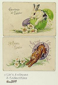 TWO EASTER POSTCARDS
