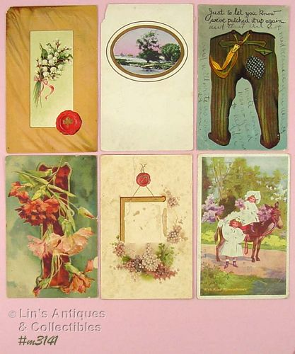 SIX ASSORTED POSTCARDS