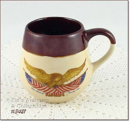 McCOY POTTERY � SPIRIT OF �76 MUG