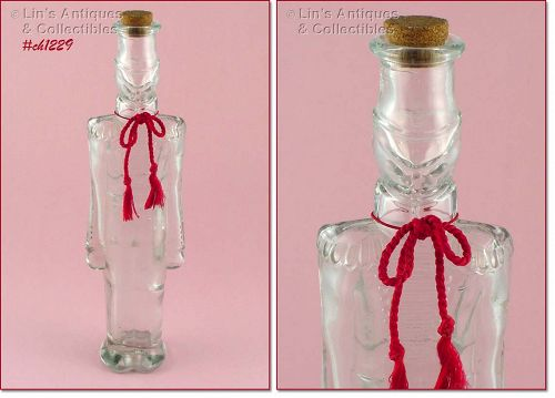 GLASS TOY SOLDIER BOTTLE