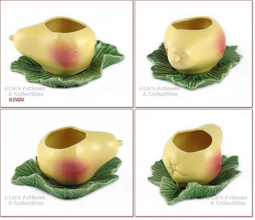 McCOY POTTERY � PEAR ON LEAF PLANTER
