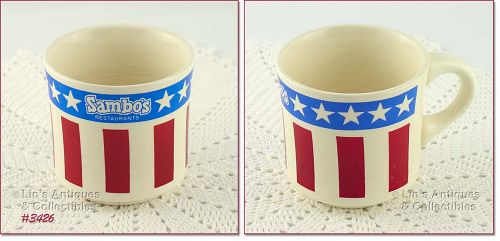 McCOY POTTERY � SAMBO�S RESTAURANT CUP
