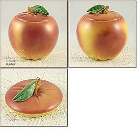 McCOY POTTERY � YELLOW APPLE COOKE JAR