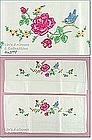 EMBROIDERED ROSES AND BLUEBIRD PILLOWCASES