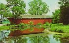 POSTCARD � TRADERS POINT COVERED BRIDGE