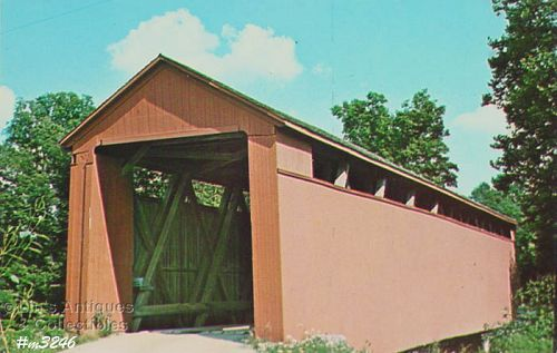 POSTCARD � OLD ENOCHSBURG COVERED BRIDGE