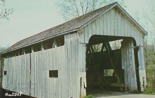 POSTCARD � SNOW HILL COVERED BRIDGE