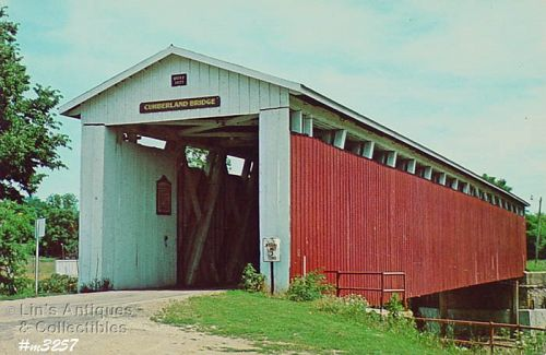 POSTCARD � COVERED BRIDGE, GRANT COUNTY, INDIANA