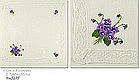 WHITE HANDKERCHIEF WITH EMBROIDERED VIOLETS