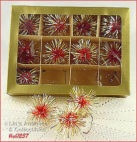 1 DOZEN VINTAGE WEST GERMANY ORNAMENTS (IN ORIGINAL BOX)