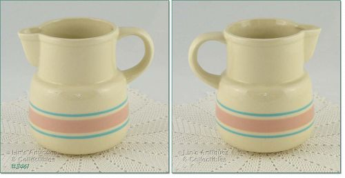 McCOY POTTERY � PINK AND BLUE PITCHER (6�)