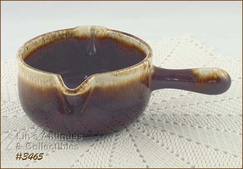 McCOY POTTERY � BROWN DRIP GRAVY SERVER