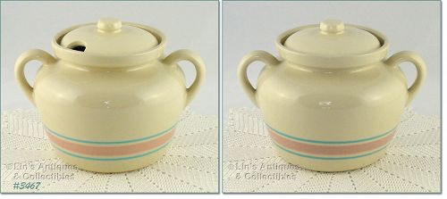 McCOY POTTERY � PINK AND BLUE TUREEN