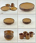 McCOY POTTERY � CANYON  SERVICE FOR 4 (20 PIECES)