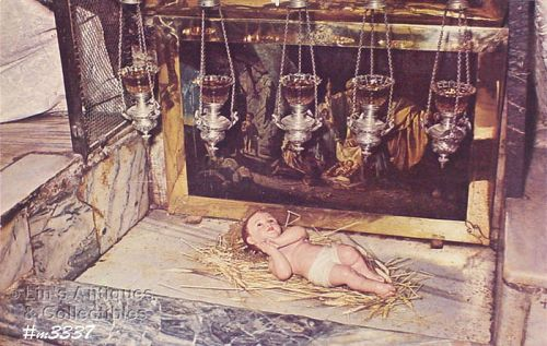 POSTCARD � BETHLEHEM, THE MANGER
