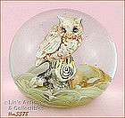 OWL PAPERWEIGHT BY KENT HELMS