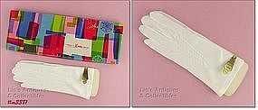 LADIES WHITE GLOVES (NEW OLD STOCK)
