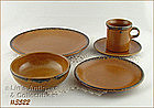 McCOY POTTERY � CANYON DINNERWARE FOR 4