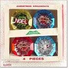 4 JEWEL BRITE ORNAMENTS IN ORIGINAL BOX