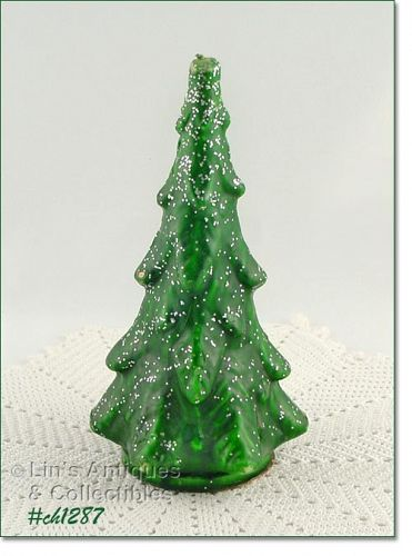 GURLEY � LARGE GREEN TREE CANDLE (8 5/8�)