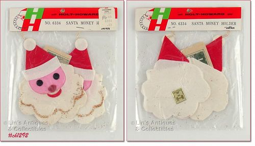 HOLT HOWARD � SANTA MONEY HOLDERS (MIP)