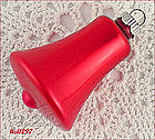 7 SHINY BRITE BELL SHAPED ORNAMENTS (RED)