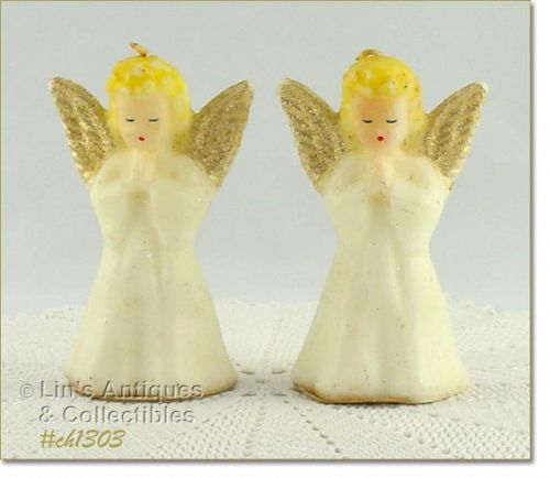 GURLEY � TWO ANGEL CANDLES (5�)
