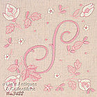 PINK HANDKERCHIEF WITH PINK �S� MONOGRAM