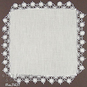 HEIRLOOM QUALITY WEDDING HANDKERCHIEF