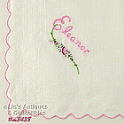 MONOGRAM HANDKERCHIEF FOR �ELEANOR�