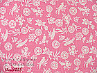 BUBBLE GUM PINK WITH WHITE FLOWERS FEEDSACK IN EXCELLENT CONDITION