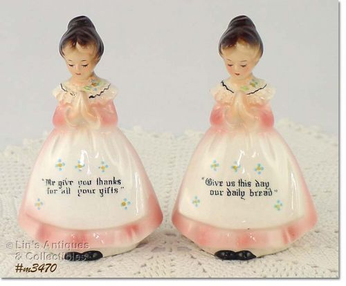 ENESCO PRAYER LADY SHAKER SET (PINK DRESS)
