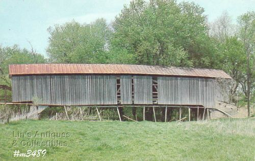 POSTCARD � SHARPE COVERED BRIDGE, PUTNAM CO, INDIANA