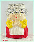 McCOY POTTERY � GRANDMA (GRANNY) COOKIE JAR (RED DRESS)