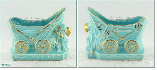 McCOY POTTERY � �WHAT ABOUT ME?� PLANTER (GOLD TRIM)