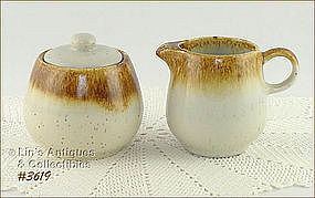 McCOY POTTERY � GRAYSTONE CREAMER AND SUGAR