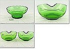 GREEN GLASS CHIP AND DIP SET