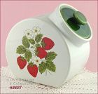 McCOY POTTERY � STRAWBERRY COUNTRY CANISTER/ COOKIE JAR