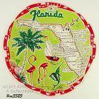 STATE SOUVENIR ROUND HANDKERCHIEF, FLORIDA