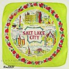 SILK SOUVENIR HANDKERCHIEF, SALT LAKE CITY, UTAH