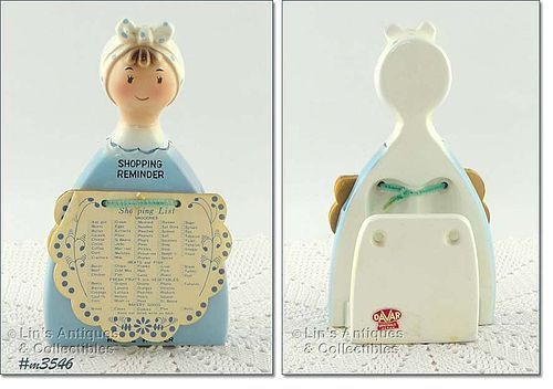 DAVAR � SHOPPING REMINDER / RECIPE HOLDER DATED 1966