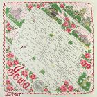 STATE SOUVENIR HANDKERCHIEF, IOWA, �THE HAWKEYE STATE