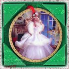 ENESCO � 1989 HAPPY HOLIDAYS BARBIE PORCELAIN ORNAMENT