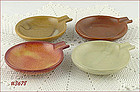 McCOY POTTERY � SET OF 4 SMALL ASHTRAYS