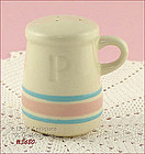 McCOY POTTERY � PINK AND BLUE PEPPER SHAKER